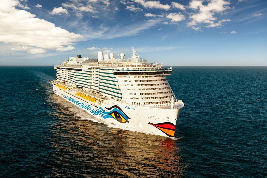 Cruise ship Aidanova at sea