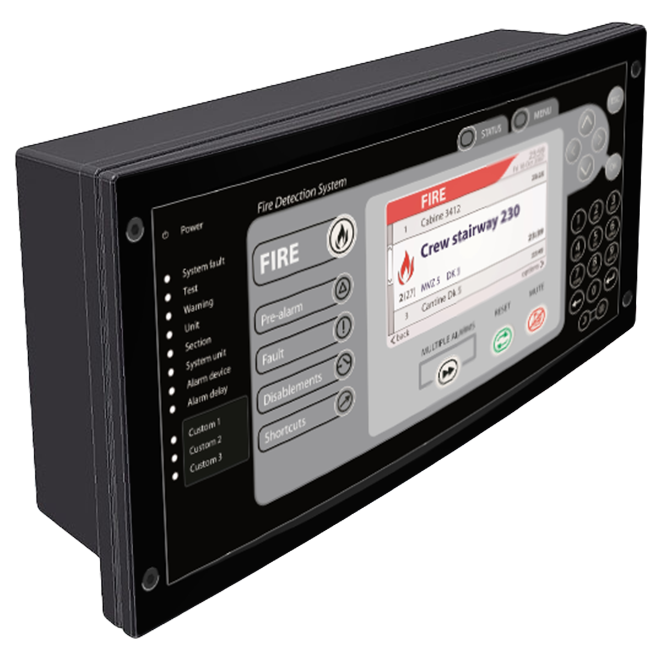 Product image of fire detection system display
