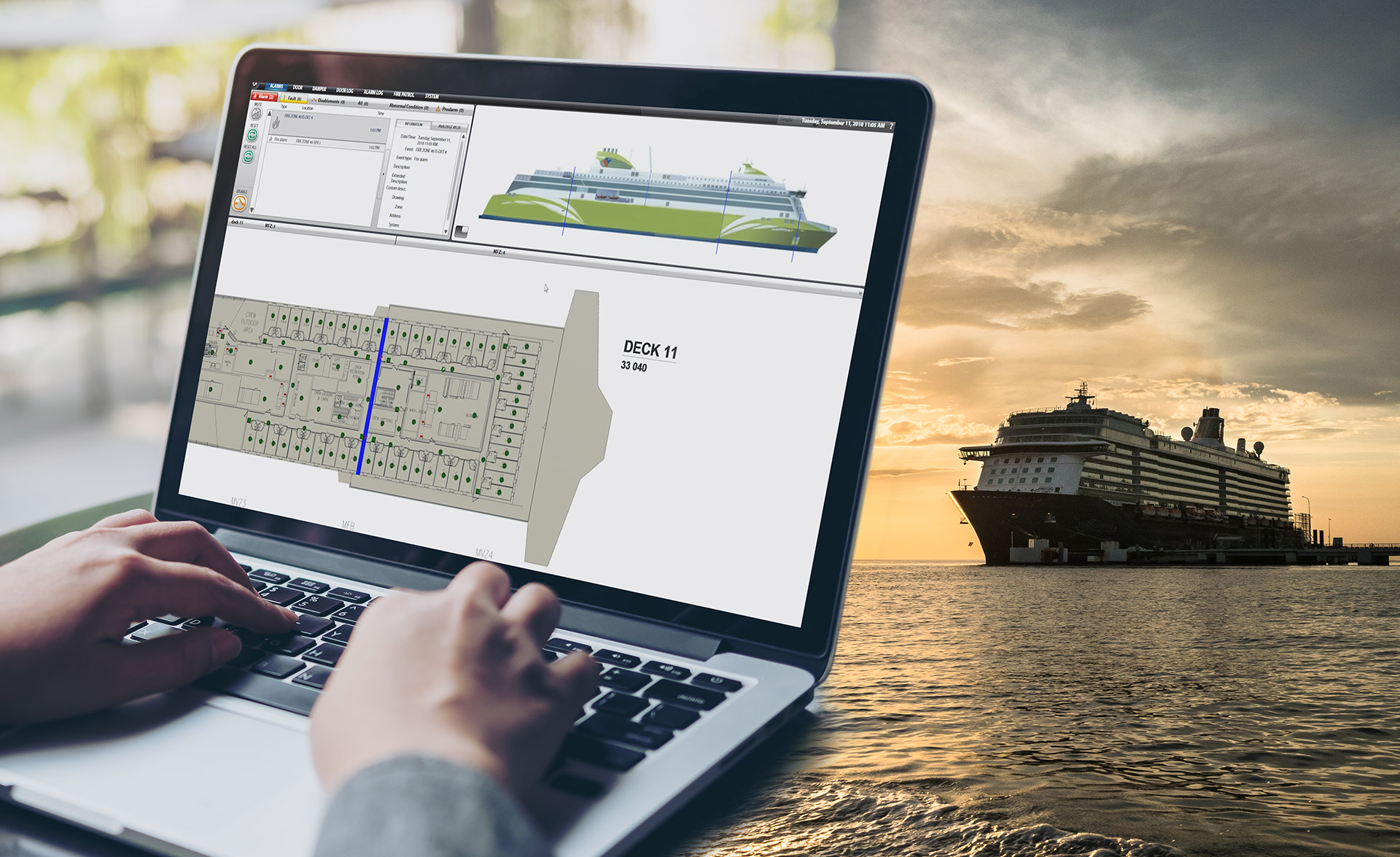 Sharing data between sea and land can save time and money. But how do you secure that valuable insights and secret information won't end up in the wrong hands?