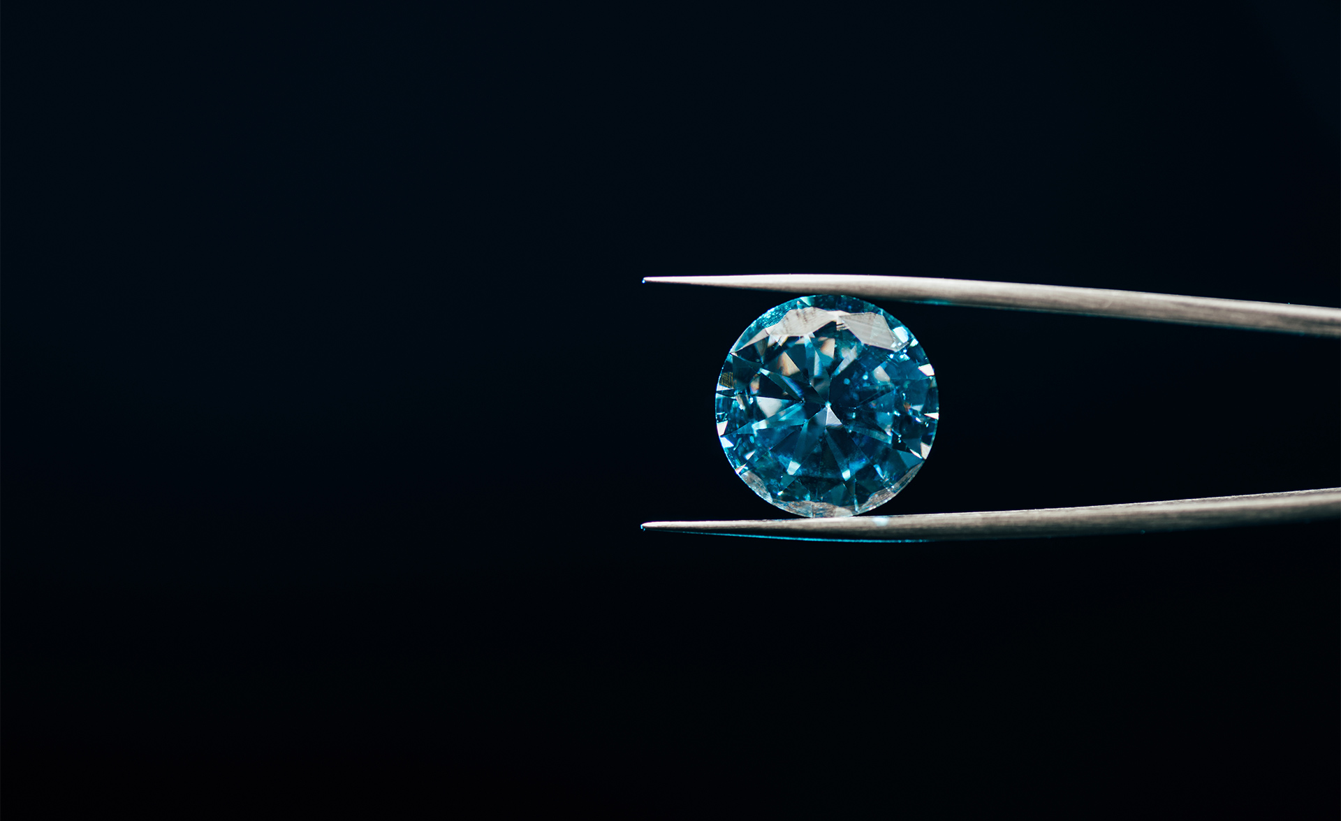 Tweezers that hold a diamond that symbolizes our loyalty program Red Carpet